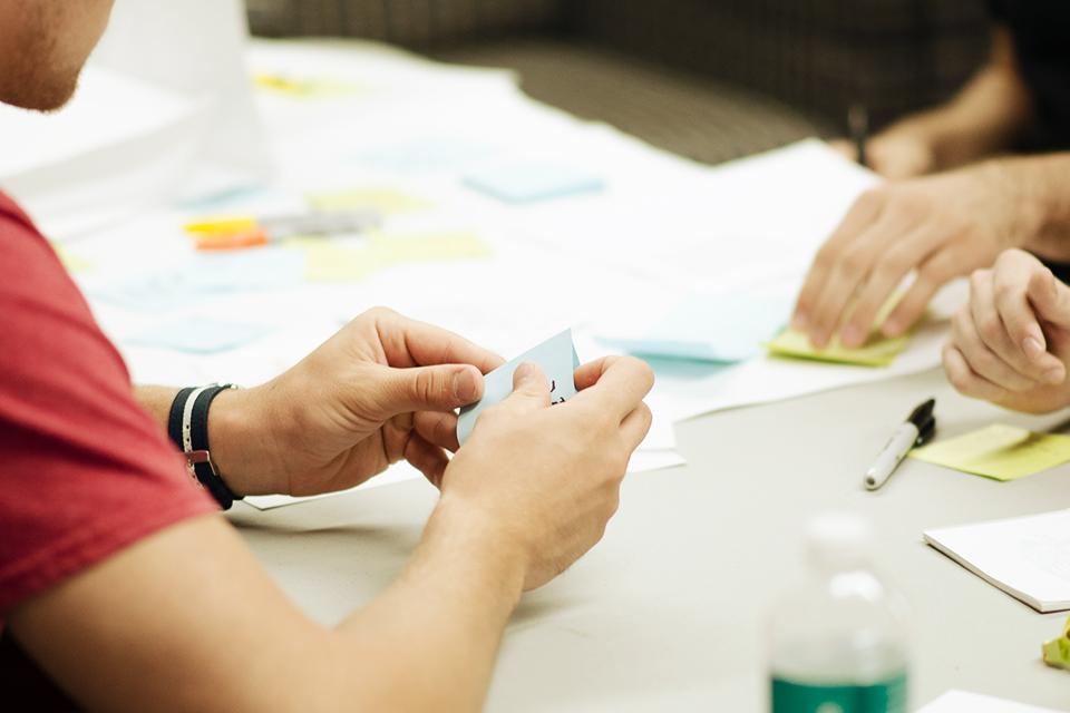 Réunion pour élaborer la stratégie d'entreprise